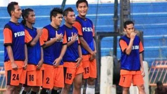 Latihan tim Persibo Bojonegoro