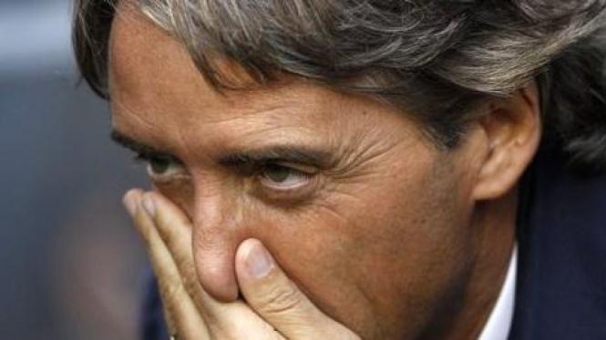 Manajer ManCity Roberto Mancini