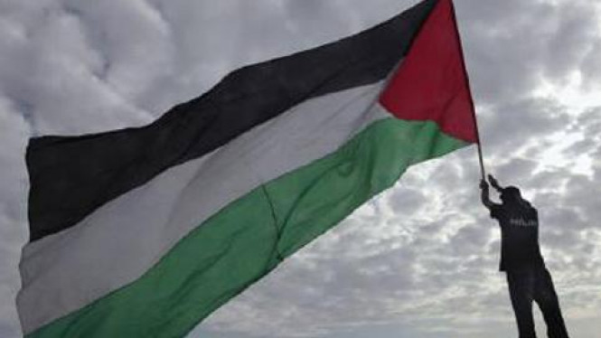 Bendera Palestina.