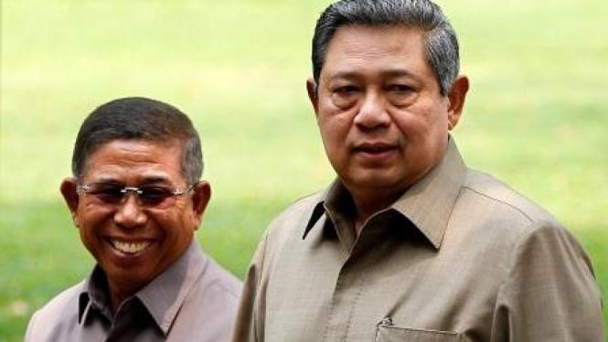 Sudi Silalahi dan Susilo Bambang Yudhoyono (SBY).