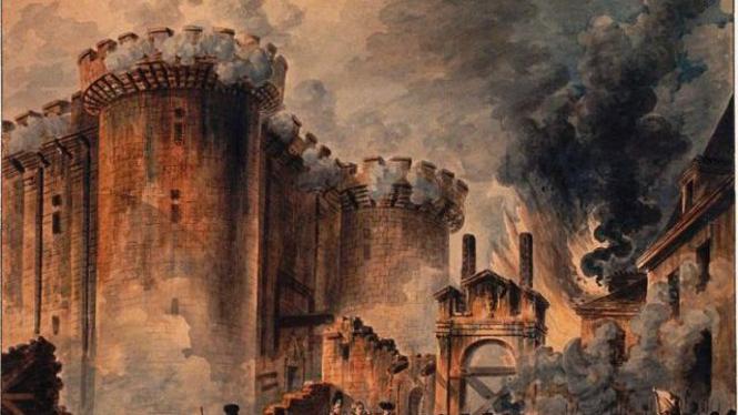 Lukisan ilustrasi Revolusi Prancis karya Jean-Pierre Houël