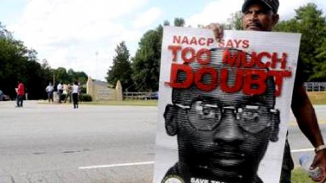 Demonstrasi menolak eksekusi Troy Davis di Georgia, AS