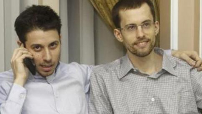 Dua warga AS yang ditahan selama dua tahun di Iran.
