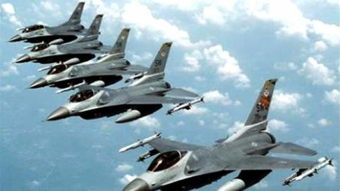 Skadron Jet Tempur F-16 milik AS.