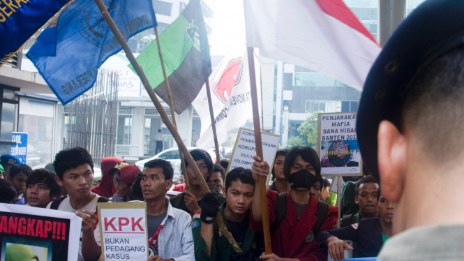Demo Warga Banten di KPK