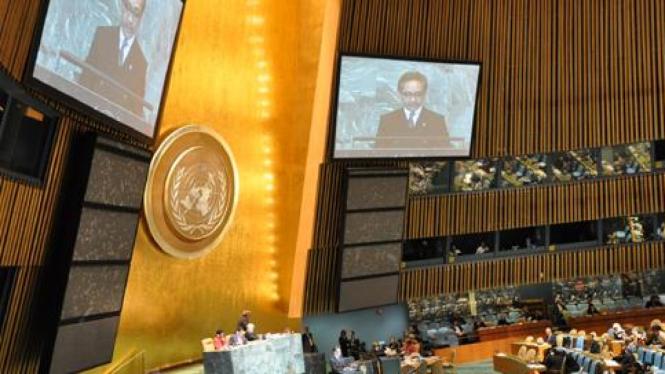 Menlu RI, Marty Natalegawa, pidato di Sidang Umum  PBB 2011