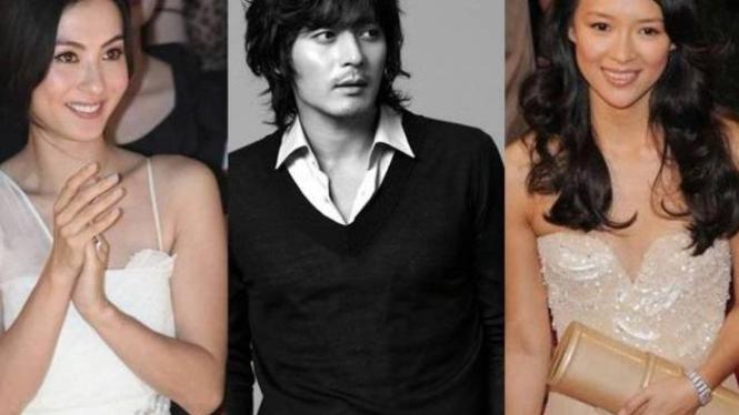 Cecilia Cheung dan Jang Dong Gun serta Zhang Ziyi