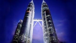 Menara kembar (twin tower) Petronas, Kuala Lumpur, Malaysia.