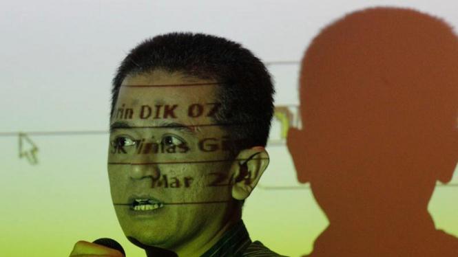 Chandra Hamzah Saat Menggelar Jumpa Pers di KPK