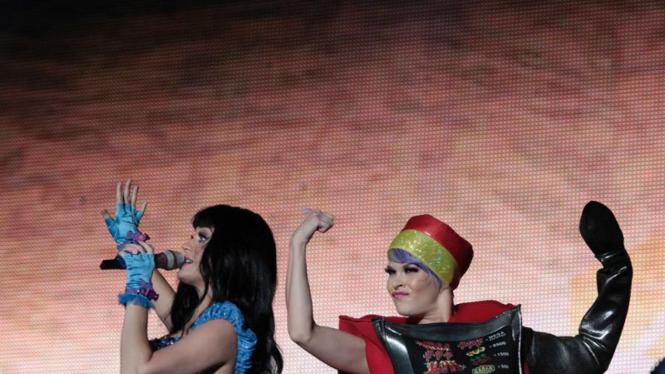 Katy Perry tampil dalam Rock in Rio Music Festival