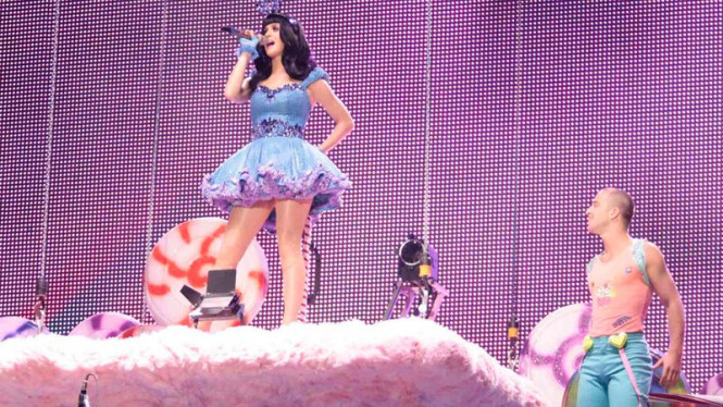Katy Perry tampil dalam Rock in Rio Music Festival