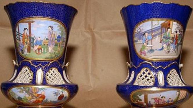 Porselen antik yang dicuri di Inggris