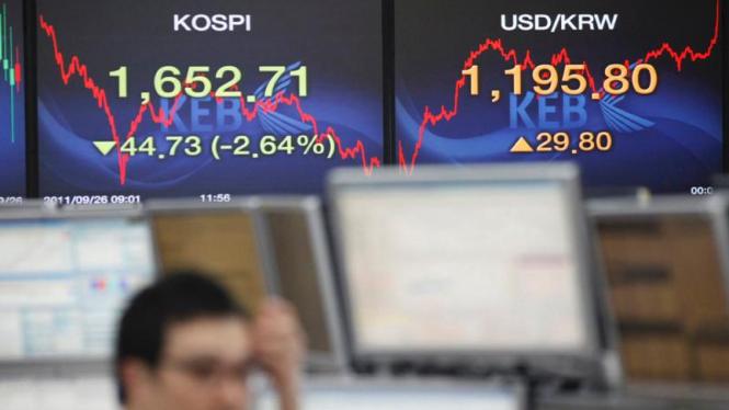 Bursa saham di Seoul
