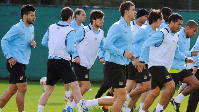Latihan tim Manchester City