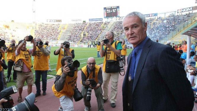 Debut Claudio Ranieri melatih Inter Milan saat melawan Bologna