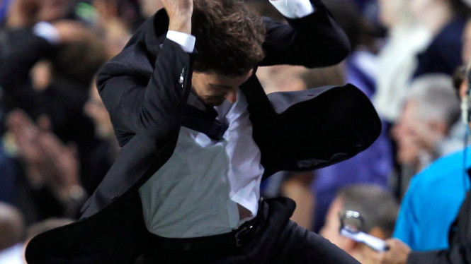 Andre Villas-Boas saat Chelsea lawan Bayer Leverkusen