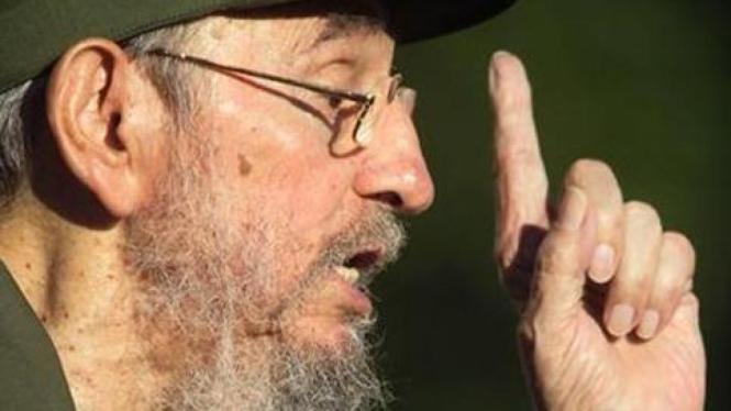 Mantan Presiden Kuba, Fidel Castro.