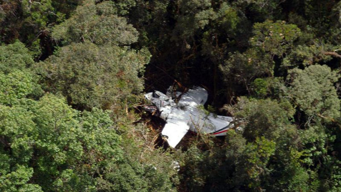 Reruntuhan pesawat Cassa di Bahorok