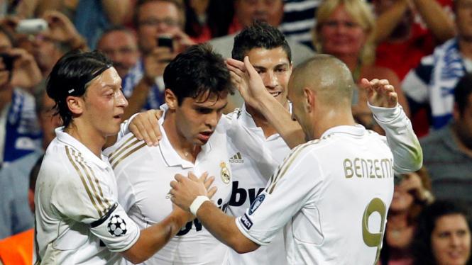 Mesut Oezil, Ricardo Kaka, Cristiano Ronaldo & Karim Benzema