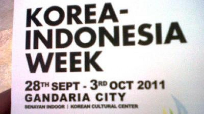 Korea Indonesia Week 2011
