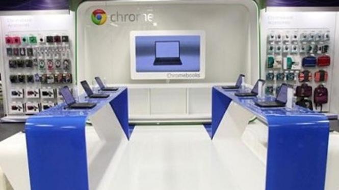 ChromeZone, toko perdana Google di London, Inggris.