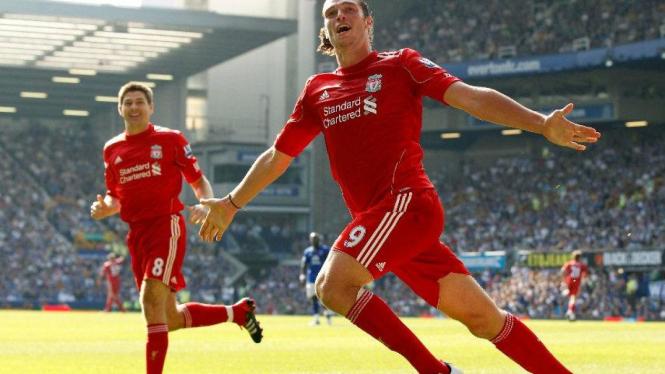 Andy Carroll saat berseragam Liverpool.