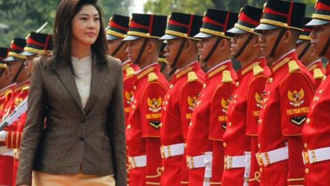 PM Thailand Yingluck Shinawatra saat mengunjungi Indonesia.