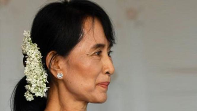 Pemimpin Myanmar, Aung San Suu Kyi.