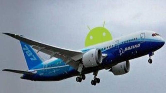 Android dalam Pesawat Boeing 787