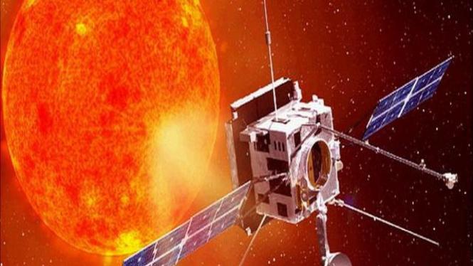 Ilustrasi rekaan satelit menuju Matahari