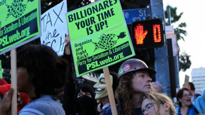 Demontrasi Kuasai Wall Street di New York, AS
