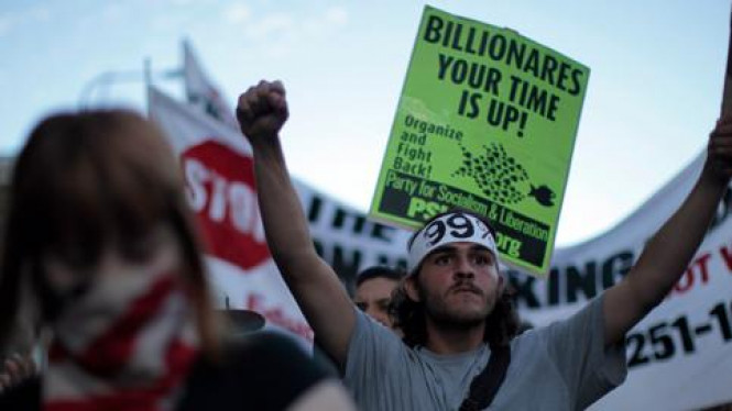 Demonstrasi anti Wall Street di AS
