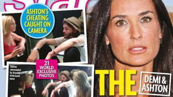 Foto Ashton Kutcher dan Seleingkuhan di Majalah Star
