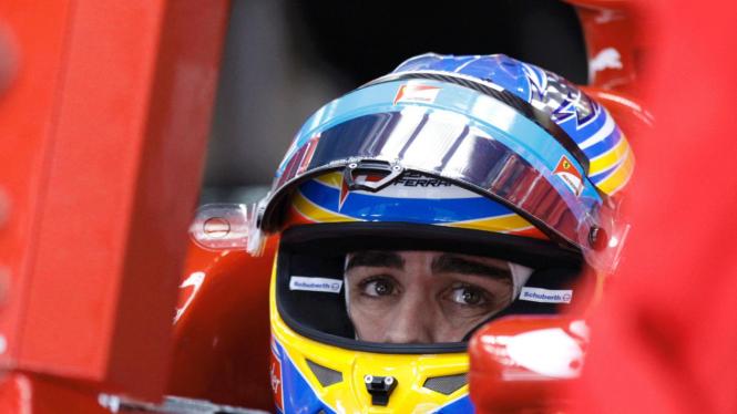 Fernando Alonso di GP Jepang