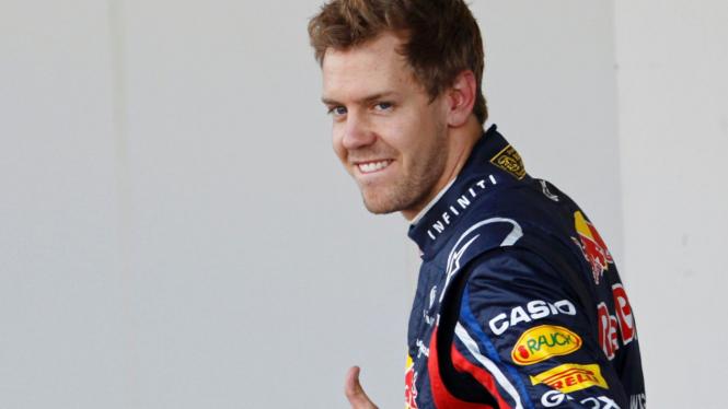 Sebastian Vettel di GP Jepang
