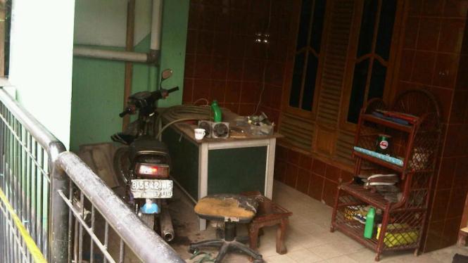 Rumah terduga teroris di Bekasi