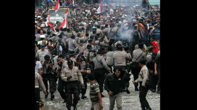 Aksi demonstrasi berdarah PT Freeport (KHUSUS GALERI)