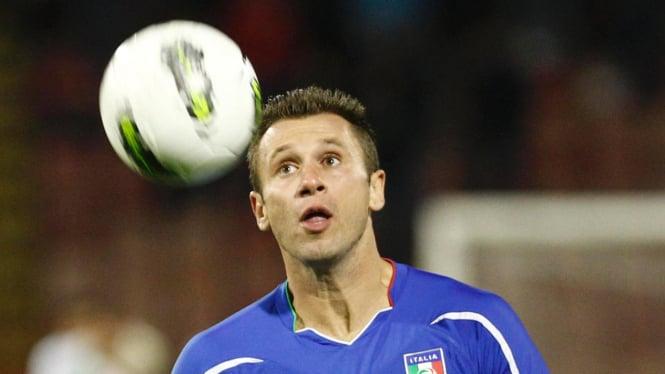 Antonio Cassano di pertandingan melawan Irlandia Utara