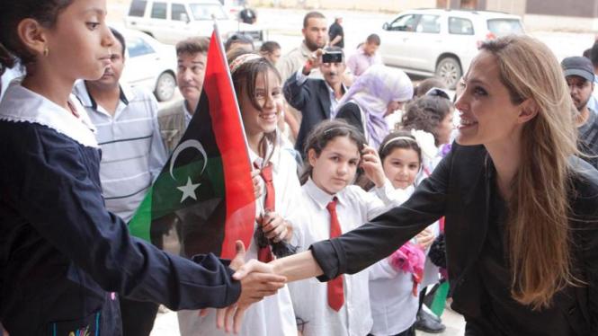 Angelina Jolie kunjungi Libya