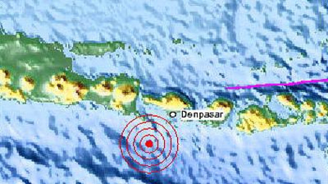 Titik Gempa Bali 13 Oktober 2011