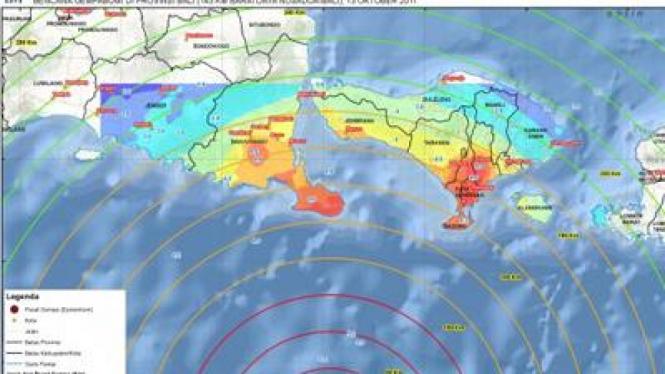 Peta Gempa Bumi Bali