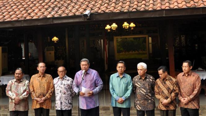 SBY-Budiono bersama ketua parpol