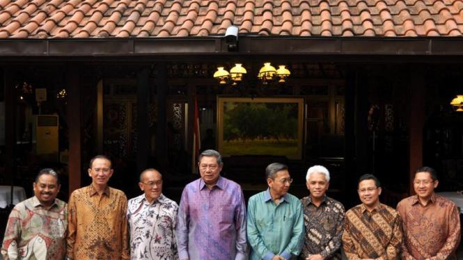 SBY-Boediono bersama ketua parpol