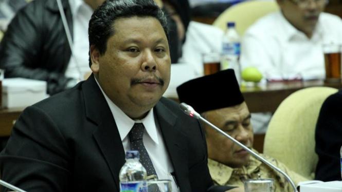 Ketua Bawaslu Bambang Eko Cahyo RDPU dengan Pansus Pemilu
