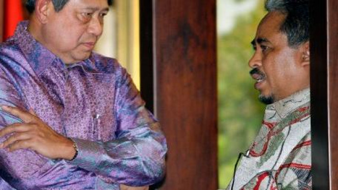 Presiden SBY dan Presiden PKS Luthfi Hasan Ishaaq