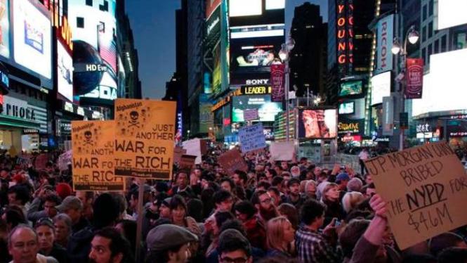 Unjuk Rasa Anti Wall Street di New York