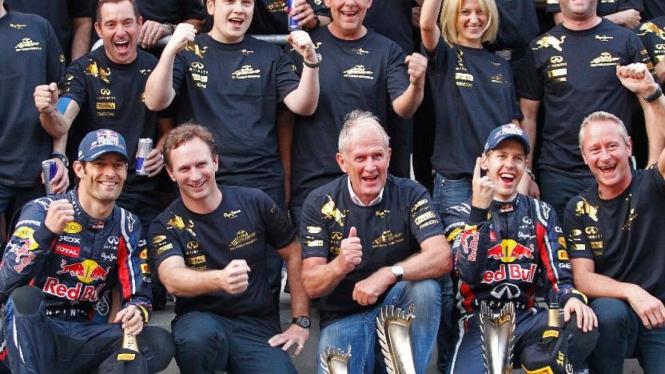 Red Bull Racing merayakan kemenangan di GP Korea