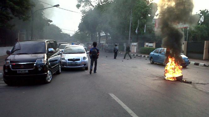 Demo rusuh mahasiswa di Menteng