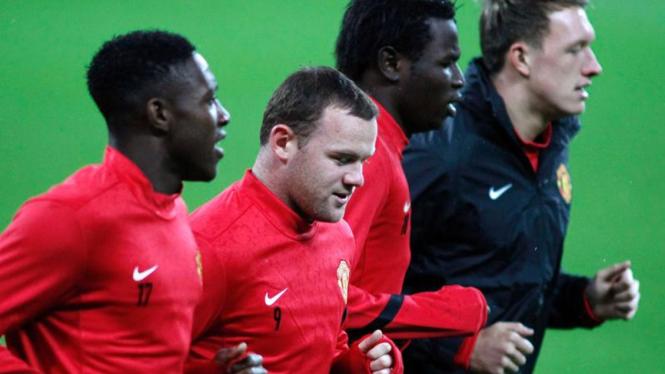 Latihan Manchester United Jelang Laga Kontra Otelul Galati