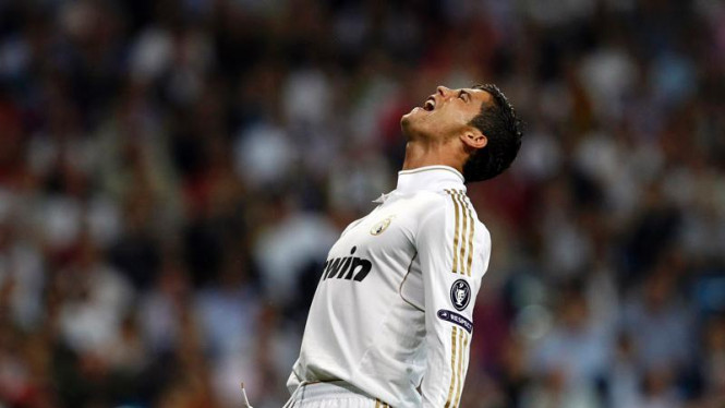 Cristiano Ronaldo di Pertandingan Real Madrid VS Olympique Lyon